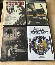 Woody & Arlo Guthrie 4 DVD LOT-Alice's Restaurant, Ain't Got No Home ETC