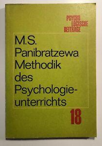 Methodik des Psychologieunterrichts. 1. Auflage   Ausgabe 1974