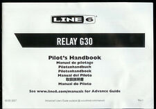 Very Rare Factory Line 6 Relay G30 Wireless Guitar System Owner's Manual