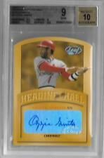 OZZIE SMITH 2002 LEAF HEADING TO THE HALL AUTOGRAPH /50- BGS 9 MINT