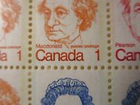 """`CANADA STAMPS  #BK74 MINT 1972-6 """"CARICATURE ISSUE"""" BOOKLET W/VARIETY--ERRORS"""