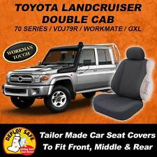 CANVAS Car Seat Covers Toyota Landcruiser 70 Series Double Cab 10/2012 - Current