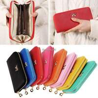 Fashion Women Lady PU Leather Clutch Wallet Long Card Holder Case Purse Handbag