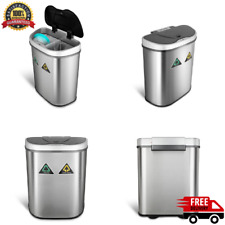 Motion Sensor Recycling Bin Trash Can Container Auto Dual Compartment 18.5 gal.