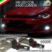 LAMPADE H8 A LED FENDINEBBIA 6400 LUMEN VOLKSWAGEN SCIROCCO 6000K ULTRALUMINOSI
