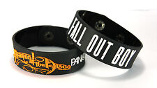 PANIC! AT THE DISCO FALL OUT BOY DIFO NEW! 2pcs(2x) Bracelet Wristband