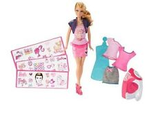 BARBIE IRON ON STYLE W/30+ PEICES INCLUDING DOLL, DECALS, CLOTHES, IRON BD832
