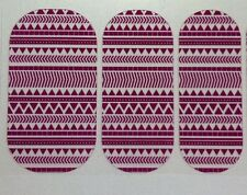 Nail Wraps- Jamberry-ISLAND ENERGY- Clear-Geometrics- HALF SHEET- Fast!!!