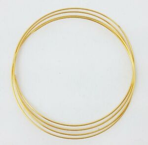 24K Solid Yellow Gold wire 1/4 Hard Round 20 22 24 26 28 Gauge 99.9% Pure Gold