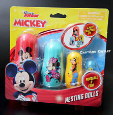Disney Mickey Mouse Nesting dolls Eggs 4 pc Collectible Birthday Gift Goofy NEW