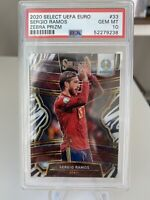 2020 Select Zebra Prizm UEFA Euro Soccer #33 Sergio Ramos PSA 10