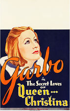 "Movie Poster Queen Christina 1933 Window Card 14""x22"" VF 7.5 Greta Garbo"
