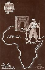 Colonie Fascismo Etiopia - Ill. Scabbia - Non Viaggiata - WD076