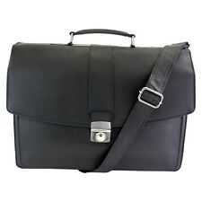 NEW Londinium by The British Belt Co Men's Leather Briefcase Messenger Bag Black