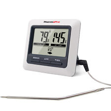 Electronic Digital Probe Food Cooking Timer Kitchen Oven Grill Meat Thermometer