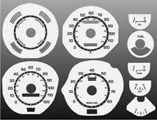 1971-1973 Ford Mustang Dash Cluster White Face Gauges 71-73