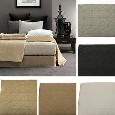 VALANCE/Bed Skirt Quilted 500TC Fitted by Linen House KING size new
