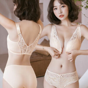 Lace Sexy Front Closure Bras Women Push Up Brassiere Seamless Bra Sets Lingerie