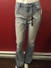 REFUGE Women's Blue Distressed Stretch Flare Jeans - Size 4 - NWT