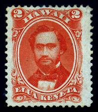 US. Hawaii  2 Cents Vermilion SC# 31. 1864. Perf 12. MH No Gum