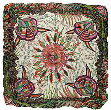 Hermes Flowers Of South Africa 10 Silk Scarf Authentic Ardmore Artists