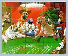 Turkmenistan Dogs Playing At A Casino MNH M/S #M568