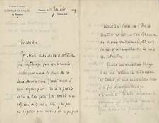 Ecrivain Jean-Richard BLOCH autographe à Eugène de MONFORT / Belle lettre