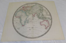 1843 Antique Map/Eastern Hemisphere