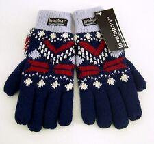 Damenhandschuhe Fingerhandschuh Nordic blau hellblau Gr.M mit 100 % Acryl