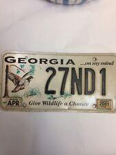 Georgia ... On My Mind License Plate 2001 Sticker