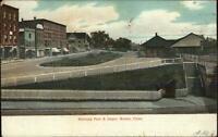 Bristol CT Railroad Park & Depot 1907 Used Postcard
