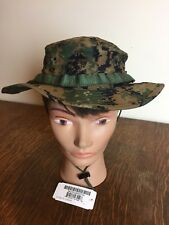 NEW US Military Issue USMC Marine MARPAT Woodland Camo Boonie Field Cover Hat XL