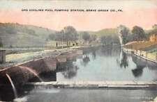 Brave Green Pennsylvania Cooling Pool Pumping Station Antique Postcard K77434