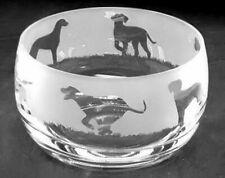 More details for hungarian vizsla frieze 12cm boxed crystal glass bowl