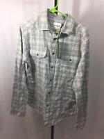 Goodfellow & Co Men's Gray Plaid Medium Flannel Dress Shirt NWT