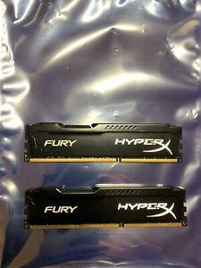 Kingston HyperX FURY 16GB DIMM DDR3 SDRAM Memory (HX318C10FBK2/16)