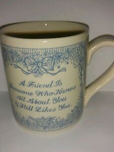Bloomsbury Collection Friendship Coffee Tea Mug Cup Made in Scotland Collectible