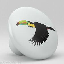 Tropical Tuscan Parrot Bird Ceramic Knobs Pull Kitchen Drawer Cabinet Vanity 394