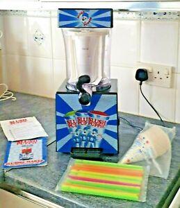 Slush Puppie Frozen Ice Drink Machine Slushi Maker with Genuine Straws & Cones