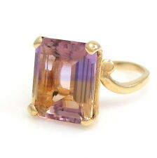 Alluring 14k Yellow Gold 7.14ct Ametrine Solitaire Ring Size 6  | GM MM