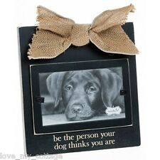 Wooden Dog Photo Picture Frame Sentiment Keepsake Pet Dog Animal Lovers Gift