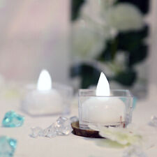 12 White Led Tea Lights Waterproof Submersible Wedding Tabletop Centerpieces