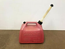 Vintage Gott Gas Can 2 1/2 Gallon Vented 1226 Screw Spout cap Rubbermaid red 2.5