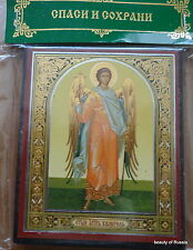 Russian wood icon  Guardian Angel