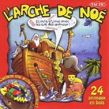Board game noah's ark-listen and plays with the cries of animals-tactic