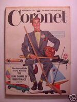 CORONET September 1949 ACADEMY AWARDS LEARNED HAND DAVID SARNOFF SPECTATOR SPORT