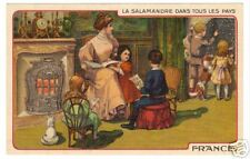 POSTCARD FRENCH ADVERTISING FIREPLACE SALAMANDRE FRANCE