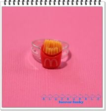 FUNKY RED FRIES RING CUTE KITSCH FAST FOOD JUNK SNACK RETRO KAWAII EMO SWEET