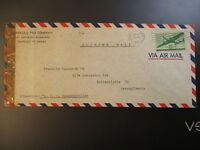 1944 Honolulu HI to Philadelphia PA USA Clipper Mail Airmail Advertising Cover