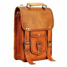 Shoulder Satchel School S Briefcase Laptop Bag Leather Vintage Messenger
